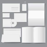 Lege Bedrijfs lege Collectieve Malplaatjes Stock Afbeelding