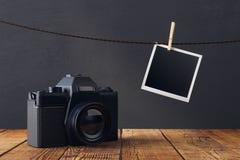 Lege beelden en camera Royalty-vrije Stock Afbeelding