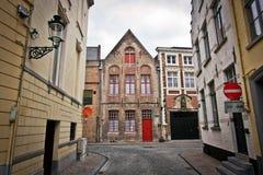 Lege Belgische straten Stock Afbeelding