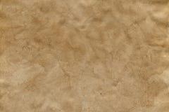 Lege bevlekte oude pakpapieroppervlakte Achtergrond stock foto's