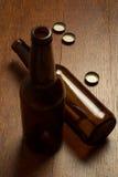 Lege bierfles Stock Afbeelding