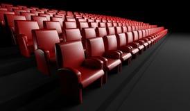 Lege bioskoopzaal met auditorium Royalty-vrije Stock Fotografie