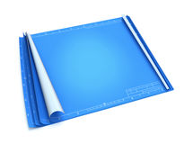 Lege blauwdruk Stock Afbeeldingen