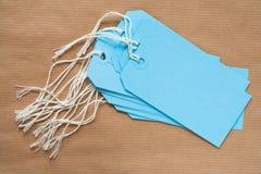Lege Blauwe Etiketten Stock Fotografie
