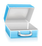 Lege blauwe lunchdoos Royalty-vrije Stock Foto's