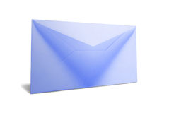 Lege blauwe postenvelop Royalty-vrije Stock Foto's