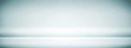 Lege Blauwe Witte Studioachtergrond, samenvatting, gradiënt grijze achtergrond, uitstekende kleur, bannerontwerp met groot scherm vector illustratie