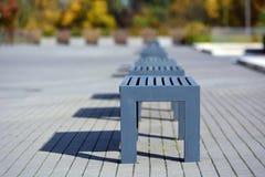 Lege blauwe zetels Stock Afbeeldingen