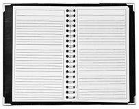 Lege blocnote met spiraal bij midden royalty-vrije stock foto