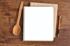 Lege blocnote voor recepten Royalty-vrije Stock Afbeeldingen