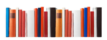 Lege boeken op wit Royalty-vrije Stock Foto