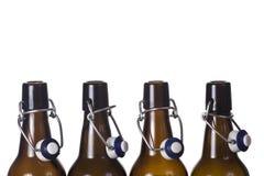 Lege bruine fles Royalty-vrije Stock Afbeeldingen