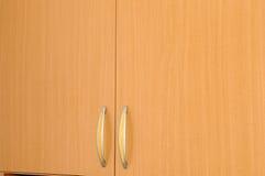 Lege bruine garderobe stock fotografie