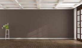 Lege bruine ruimte Royalty-vrije Stock Afbeelding
