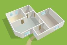 Lege buitenhuis planning, Stock Afbeelding