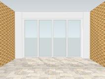 Lege bureauruimte met venster vector illustratie
