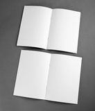 Lege catalogus, brochure, tijdschriften, boekspot omhoog Stock Foto's