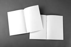 Lege catalogus, brochure, tijdschriften, boekspot omhoog Royalty-vrije Stock Fotografie