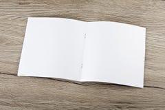 Lege catalogus, brochure, tijdschriften, boekspot omhoog Stock Foto