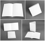 Lege catalogus, brochure, tijdschriften, boekspot omhoog Royalty-vrije Stock Foto