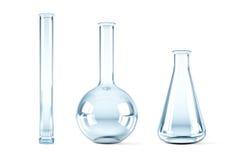Lege chemische flessen Stock Afbeeldingen
