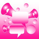 Lege communicatie bellen en megafoons stock illustratie