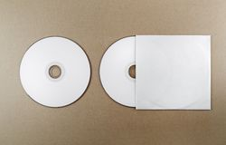 Lege compact-disc stock afbeelding