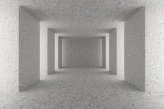 Lege concrete zaal met concrete kolommen Royalty-vrije Stock Afbeelding