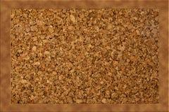 Lege Cork raad met houten frame stock illustratie