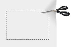 Lege coupon vector illustratie