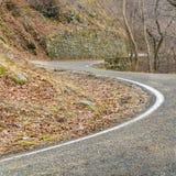 Lege curvy route royalty-vrije stock foto