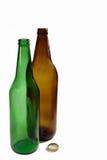 Lege de fles van het bier Royalty-vrije Stock Foto's