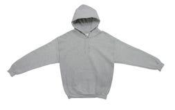 Lege de kleuren grijze achtermening van het hoodiesweatshirt Royalty-vrije Stock Foto