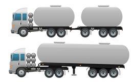 Lege de vrachtwagenreeks van de Olieaanhangwagen Stock Foto's