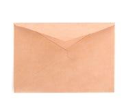 Lege die envelop op witte achtergrond wordt geïsoleerd Stock Fotografie