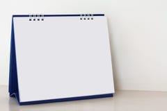 Lege document bureau spiraalvormige kalender Stock Foto's