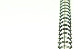 Lege document nota met het binden Stock Fotografie