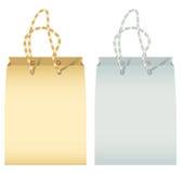 Lege document twee het winkelen zak Royalty-vrije Stock Afbeeldingen