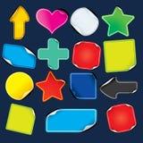 Lege Document Verkoopmarkeringen, Stickers en Etiketten. Vector vector illustratie