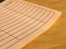 Lege document vorm royalty-vrije stock afbeeldingen