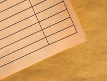 Lege document vorm royalty-vrije stock foto's