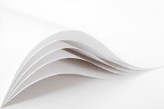 Lege en witte pagina's Stock Foto