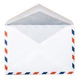 Lege envelop met het knippen van weg Stock Fotografie