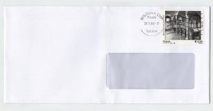 Lege envelop met zegel van Italië Royalty-vrije Stock Fotografie