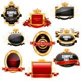 Lege etiketten en emblemen Royalty-vrije Stock Afbeeldingen