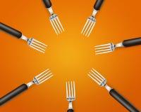 Lege exemplaar ruimtecirkel in reeks vorken Stock Afbeelding