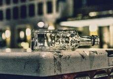 Lege fles met weloverwogen lawaai royalty-vrije stock foto