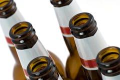Lege flessen bier Stock Afbeelding