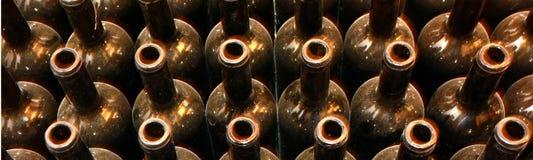 Lege flessen wijn Royalty-vrije Stock Foto's