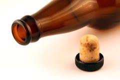 Lege flessenmond en cork Stock Fotografie